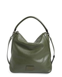 Marc By Marc Jacobs | Green 'new Too Hot To Handle' Leather Hobo | Lyst