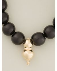 Luis Morais | Black Gold Charm Beaded Bracelet for Men | Lyst