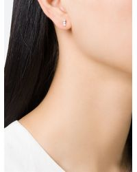 Wouters & Hendrix | Metallic Three Diamond Earring | Lyst