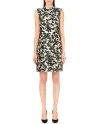 'S Max Mara - Black Lolly Floral-print Satin Dress - Lyst