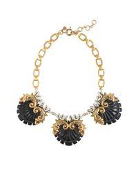 J.Crew - Black Crystal Nouveau Necklace - Lyst
