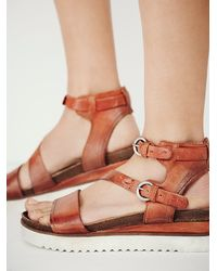 Free People | Brown Centuries Distress Sandal | Lyst
