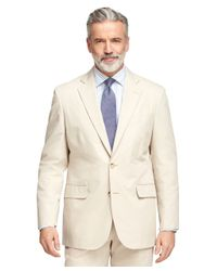Brooks Brothers | Natural Madison Fit Twill Suit for Men | Lyst