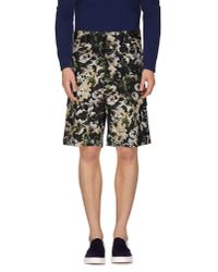 MSGM - Green Bermuda Shorts for Men - Lyst