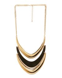 Forever 21 | Metallic Crescent Trio Bib Necklace | Lyst