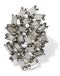 DANNIJO - Metallic Oxidised Silver Opal Swarovski Ring - Lyst