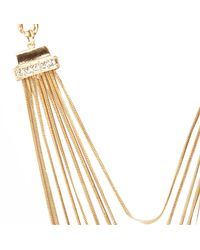 River Island | Metallic Gold Tone Snake Chain Necklace | Lyst
