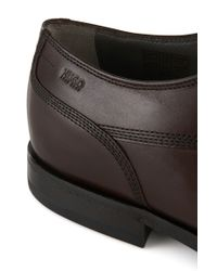HUGO - Brown Leather Lace-up Shoes: 'c-modist' for Men - Lyst
