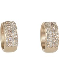 Roberto Marroni | Metallic Diamond Hoop Earrings | Lyst