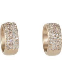 Roberto Marroni - Metallic Diamond Hoop Earrings - Lyst