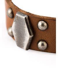 Saint Laurent | Brown Studded Bracelet for Men | Lyst