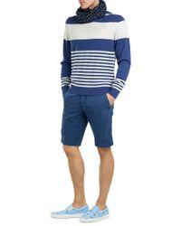Etro - Striped Cashmere Pullover - Blue - Lyst