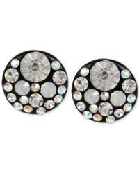 Betsey Johnson | Black-tone Multi-crystal Disc Stud Earrings | Lyst