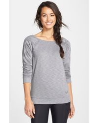 Under Armour - Gray 'kaleidalogo' French Terry Pullover - Lyst