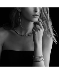 David Yurman | Metallic Black & Gold Cable Bracelet | Lyst