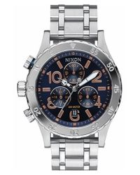 Nixon - Blue 'the 38-20' Extra Large Chronograph Bracelet Watch - Lyst