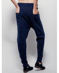 Free People | Blue Catch Me Cozy Swit Pant | Lyst