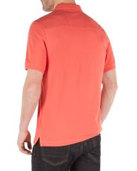 Racing Green - Pink Ilkley Plain Pique Polo for Men - Lyst