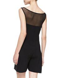 La Petite Robe Di Chiara Boni - Black Vita Illusion Jumpsuit - Lyst