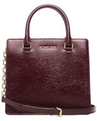 Michael Kors | Purple Michael Brinkley Medium Satchel | Lyst