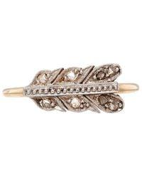 Annina Vogel - Metallic Gold and Platinum Victorian Diamond Arrow Ring Set - Lyst