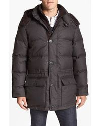 Vince Camuto - Brown 680-down Fill Quilted Hooded Parka for Men - Lyst