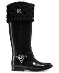 Michael Kors - Black Cable Knit Boot Sock Liners - Lyst