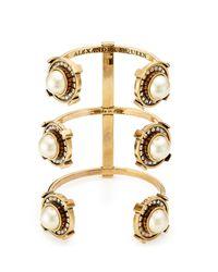 Alexander McQueen - Metallic Embellished Cuff Bracelet - Lyst