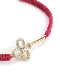 Juicy Couture | Red Pave Key Friendship Bracelet | Lyst
