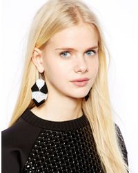 Monki | Black Adisa Abstract Earrings | Lyst