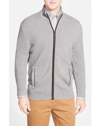 John W. Nordstrom | Gray Wool Zip Cardigan for Men | Lyst