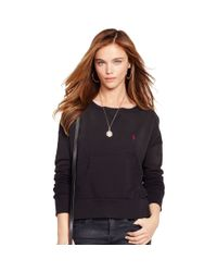 Polo Ralph Lauren - Black Fleece Crewneck Sweatshirt - Lyst
