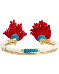 Aurelie Bidermann | Multicolor Double-band Cuff | Lyst