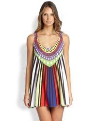 Mara Hoffman | Multicolor Rays Jersey Swing Mini Dress | Lyst