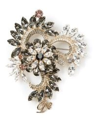 DSquared² | Metallic Flower Print Brooch | Lyst