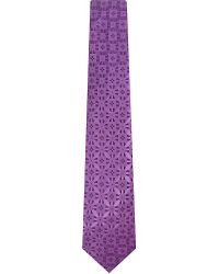 Charvet | Purple Broken Square Silk Tie for Men | Lyst