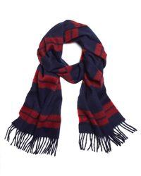 Brooks Brothers | Blue Blanket Stripe Scarf for Men | Lyst