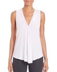 Theory | White Meighlan K Draped Top | Lyst