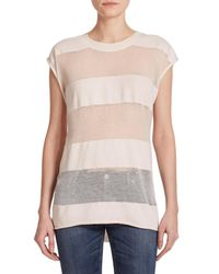 IRO | White Lewis Striped Burnout Tee | Lyst