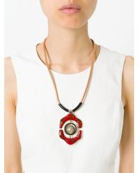 Marni - Multicolor Flower Pendant Necklace - Lyst