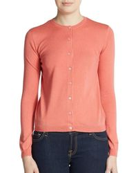 RED Valentino | Pink Cashmere & Silk Cardigan Sweater | Lyst