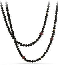 David Yurman - Osetra Necklace With Black Onyx - Lyst