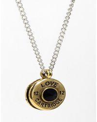 Love Bullets - Metallic Lovebullets Cartridge Base Necklace for Men - Lyst