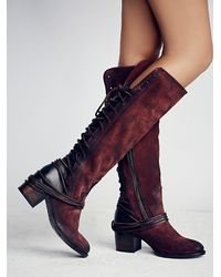 Free People - Purple Coal Tall Boot - Lyst