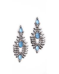 DANNIJO | Blue Alessia Earrings | Lyst