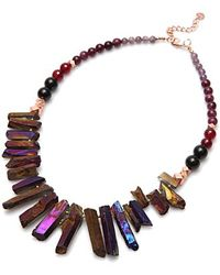 Nakamol | Multicolor Rez Crystal Necklace-purple | Lyst