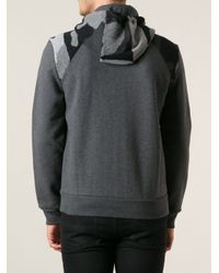 Moncler - Gray Camouflage Sweatshirt for Men - Lyst