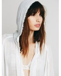 Free People - White Chill Away Hoodie - Lyst