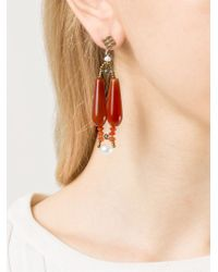Ziio - Red 'Murano' Glass Bead Earrings - Lyst
