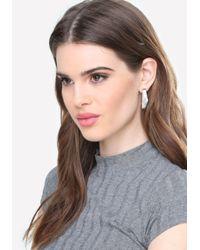 Bebe - Metallic Marbled Geo Stone Earrings - Lyst